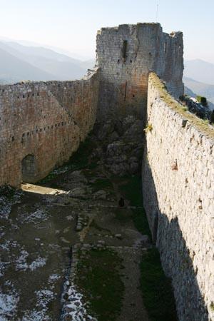 Ruins of the Cathar castle of Montségur